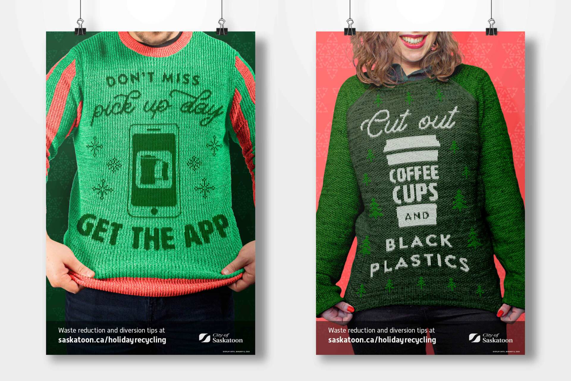 Recycle Better in your Ugly Sweater poster alternates.