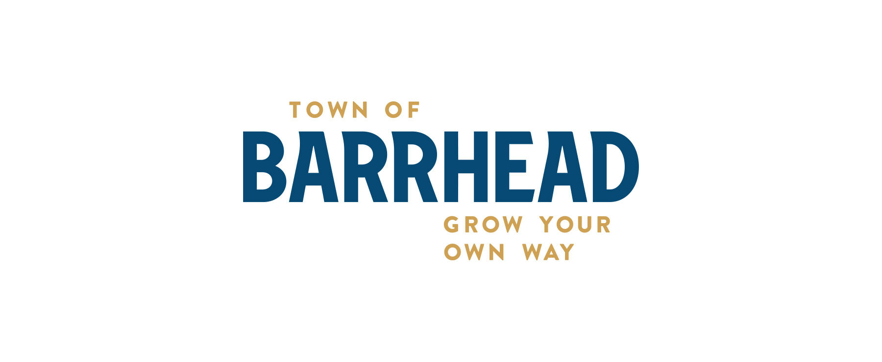Town of Barrhead Logo with Tagline on white background