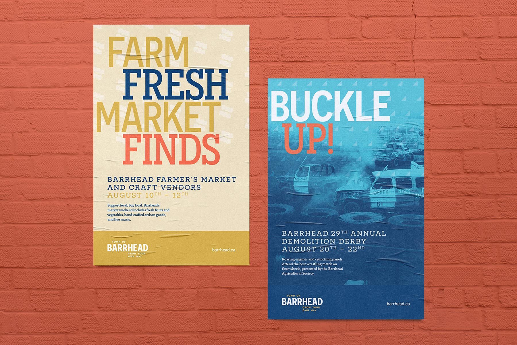 Poster examples for Barrhead