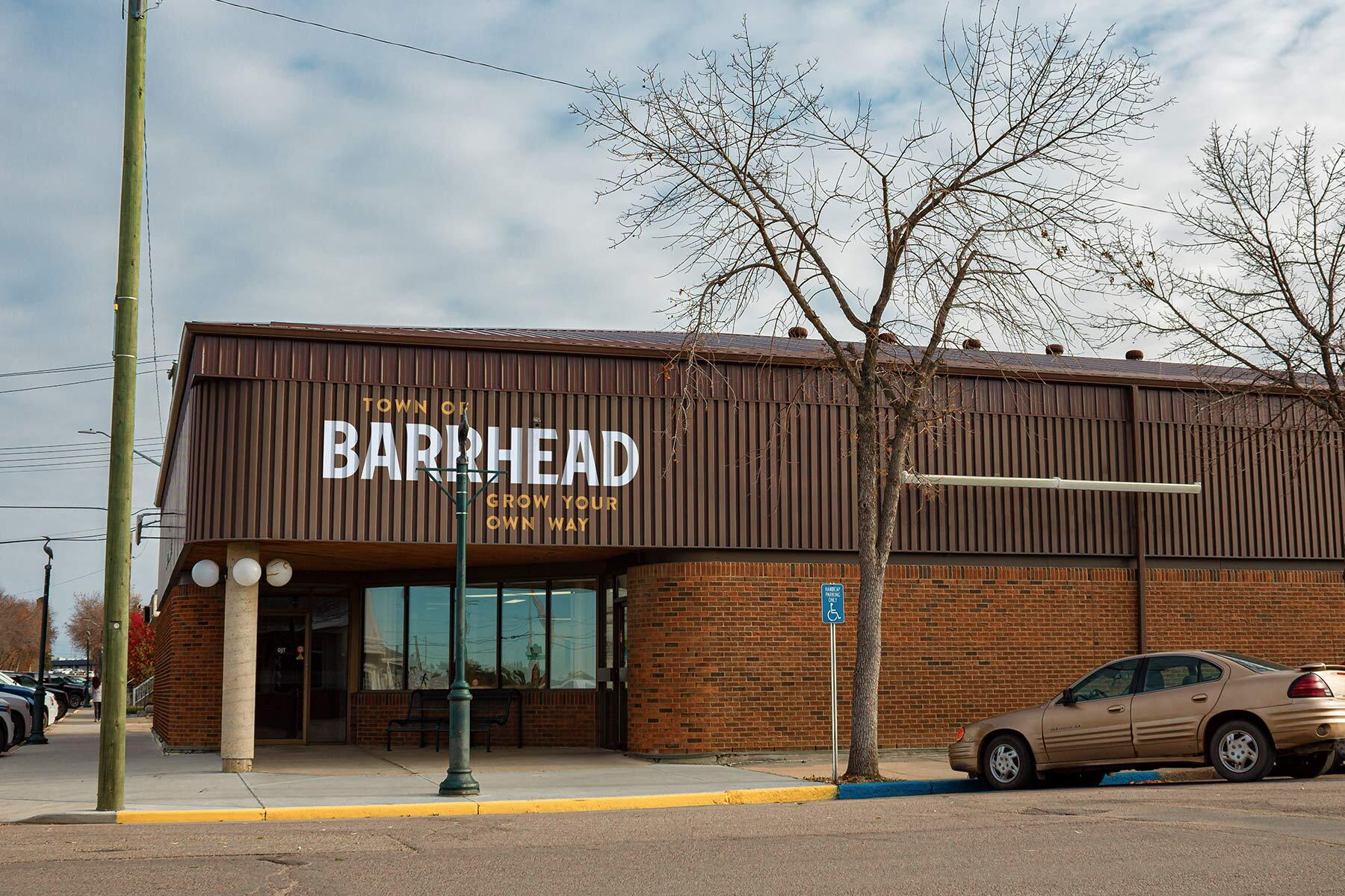 Barrhead Town Hall Signage designed by Ion Brand Design